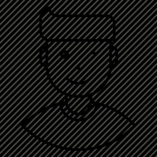 avatar, close, expression, eye, feeling, flirt, man icon