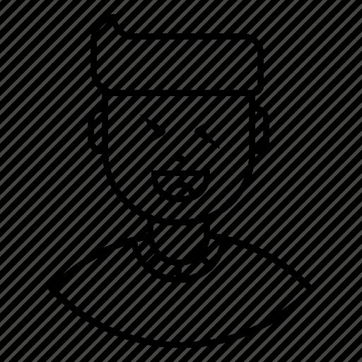 avatar, close, expression, eye, feeling, happy, man icon