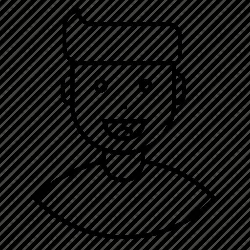 avatar, employee, expression, feeling, happy, man, smile icon