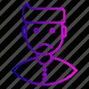 avatar, cry, employee, expression, feeling, man, sad icon