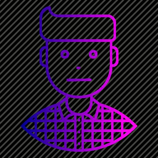 avatar, employee, expression, feeling, man, neutral, sad icon