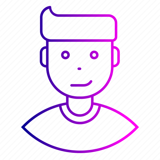 avatar, employee, expression, feeling, man, smirk icon