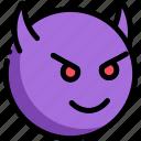 devil, emotion, face, facial expression icon