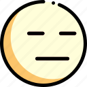 emotion, expressionless, face, facial expression icon