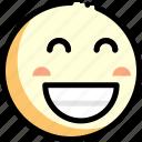 emotion, face, facial expression, happy icon