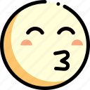 emotion, face, facial expression, kiss icon