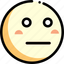 emotion, face, facial expression, neutral icon