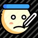 emotion, face, facial expression, sick icon