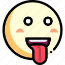 emotion, face, facial expression, tongue icon