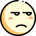 emotion, face, facial expression, unamused icon