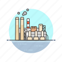 energy, factory, industry, plant, power, production icon