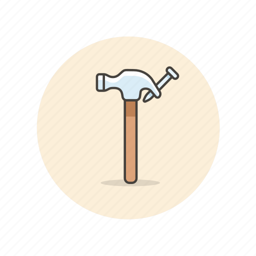 build, equipment, factory, hammer, hit, nail, tool icon