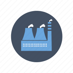 dust, factory, gas, industry, oil, plant, pollution, smoke icon