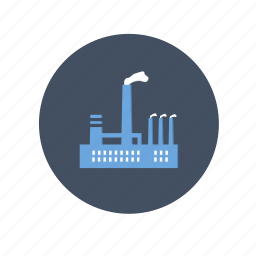 building, dust, factory, gas, industry, oil, plant, pollution icon