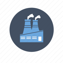 building, company, dust, factory, gas, industry, oil, plant, pollution icon