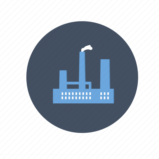 building, company, dust, factory, gas, industry, oil, plant, pollution, production, smoke icon