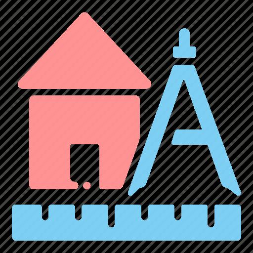 architectural, architecture, building, construction, design, house, structure icon