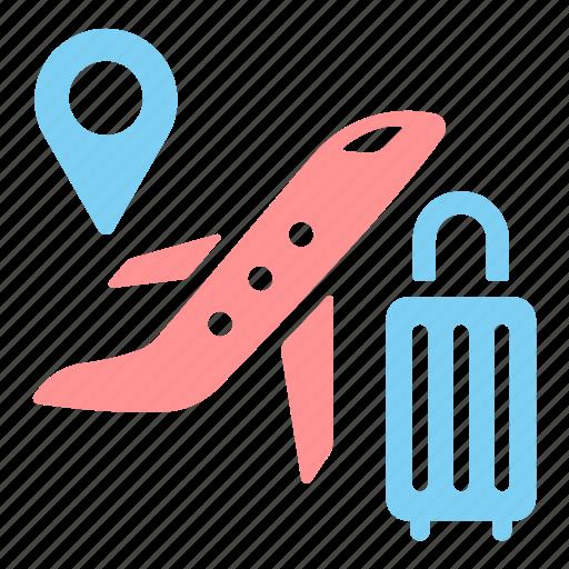 air, hostess, locations, plane, tourism, travel, trip icon