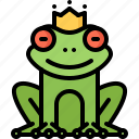 crown, frog, legend, tale, fantasy, fairy, princess
