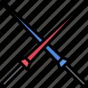 duel, fairy, knight, spear, tale, war, weapon icon