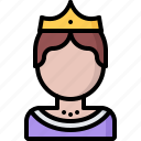 crown, fairy, fantasy, legend, queen, tale icon
