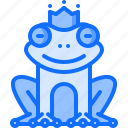 crown, fairy, fantasy, frog, legend, princess, tale icon