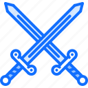 duel, fairy, fantasy, legend, sword, tale, war icon