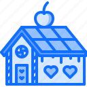 fairy, fantasy, gingerbread, house, legend, tale icon