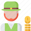 coin, fairy, fantasy, gold, legend, leprechaun, tale icon