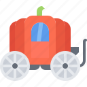 coach, fairy, fantasy, legend, magic, pumpkin, tale icon