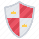 crown, fairy, fantasy, knight, legend, shield, tale icon
