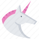fairy, fantasy, horn, horse, legend, tale, unicorn icon