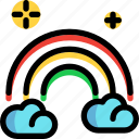 fairy tale, kid, rainbow, story icon