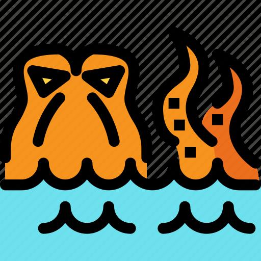 fairy tale, kid, kraken, octopus, story icon