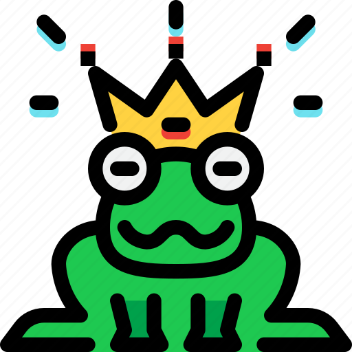 fairy tale, frog, kid, prince, story icon