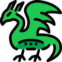 dragon, fairy tale, fantasy, kid, monster, story icon