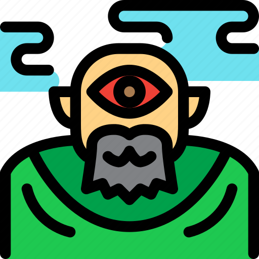 cyclops, fairy tale, giant, kid, monster, story icon