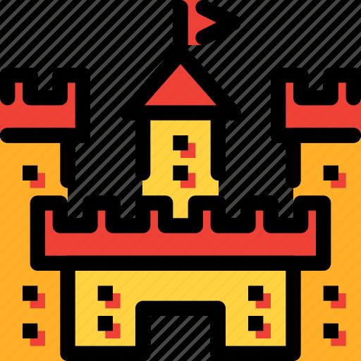 castle, fairy tale, fantasy, kid, story icon