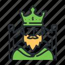 crown, fairytale, fantasy, king icon