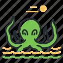 fairytale, kraken, monter, sea icon