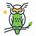bird, fairytale, knowledge, owl icon