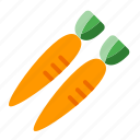 carrot, fall, food, harvest, thanksgiving, vegetable icon