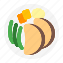 chicken, cooking, dinner, fall, plate, thanksgiving, turkey icon