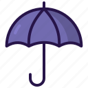 dry, rain, umbrella, weather icon
