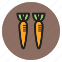 roots, carrots, fall, fruits, vegetables icon