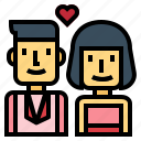 couple, husband, wedding, wife icon