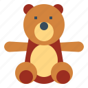 animal, bear, children, fluffy, teddy