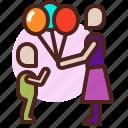 baloons, life, love, partner, sibling icon