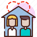 couple, house, life, love, partner, sibling icon