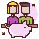 economy, life, love, partner, sibling icon